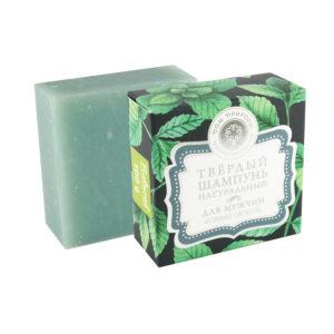 Крымская косметика Твердый шампунь Активная свежесть с экстрактом зеленого чая и мяты для мужчин 100 г купить оптом и розницу