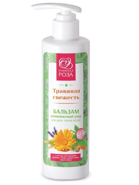 Крымский Бальзам для волос Травяная свежесть комплексный уход для всех типов волос 250 мл