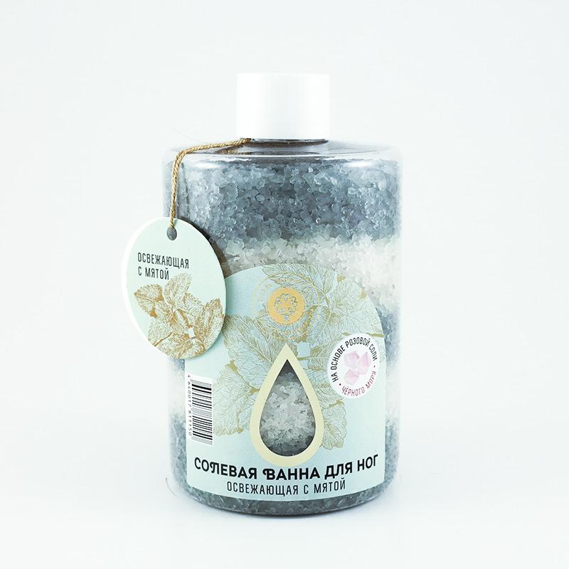 Соль морская для ног Освежающая с мятой