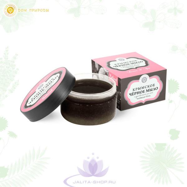 Крымское чёрное мыло Чайная роза