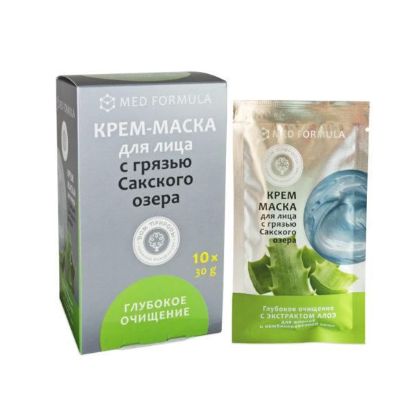 Косметика Крыма - Крем-маска с Грязью Сакского озера Глубокое очищение