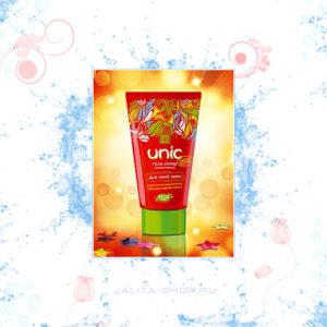 Гель-скраб для ухода за юной кожей Unic - гель глубоко, нежно и бережно очищает молодую кожу