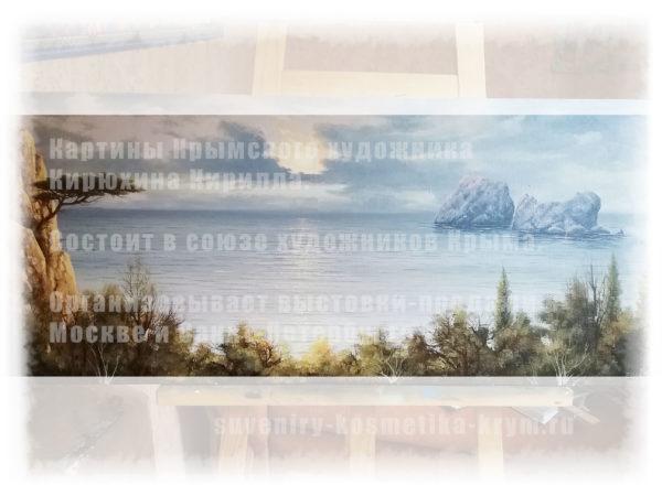 Адвлвры в Гурзуфе. Картина Морской пейзаж. Кирюхин Кирилл