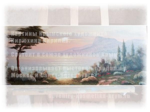 Картина Крым с Морским пейзажем крымского художника Кирюхина Кирилла.