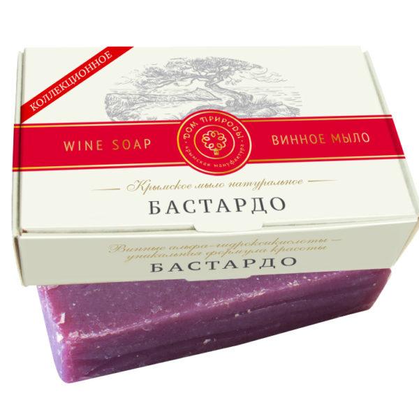 Крымское мыло натуральное БАСТАРДО с винными α-гидроксикислотами, медом и витамином Е.