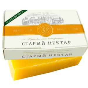 Крым Купить Крымское мыло натуральное СТАРЫЙ НЕКТАР с винными α-гидроксикислотами и витамином Е.