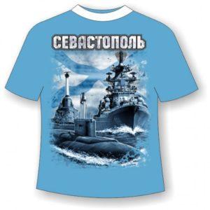 Подростковая футболка Севастополь Андреевский флаг