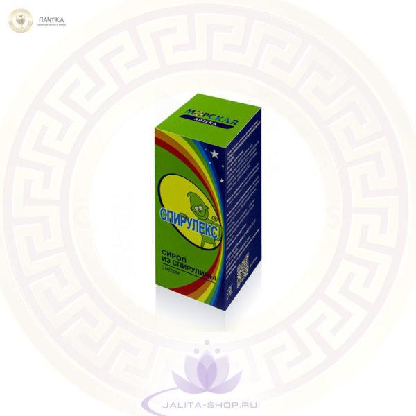 Биологически активная добавка к пище «Сироп с микроводорослью спирулиной и медом» (без ароматизатора).